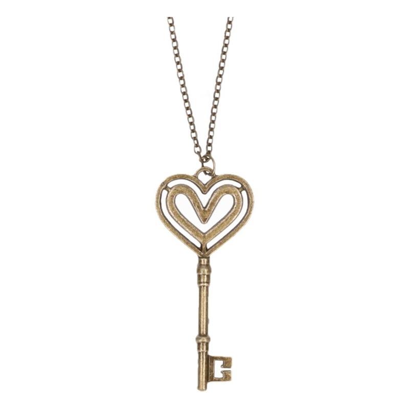 Ketting met sleutel type 3. bronskleurige ketting met een sleutel.