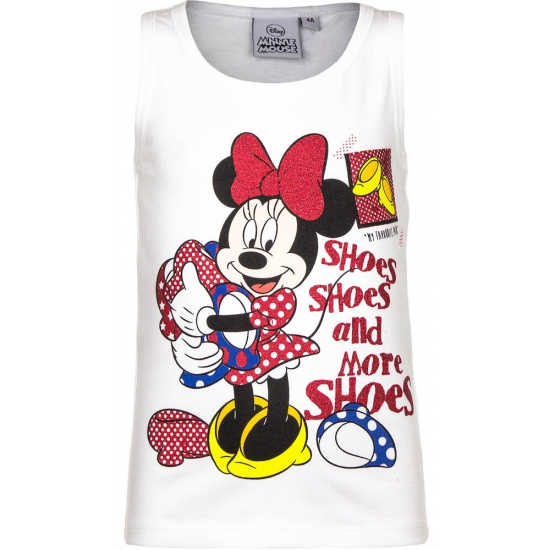 Mouwloos Minnie Mouse t-shirt wit
