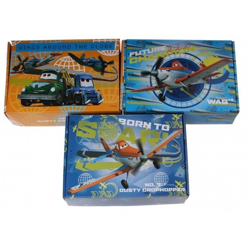 3x Kartonnen opbergboxen-opbergdozen Planes thema Dusty