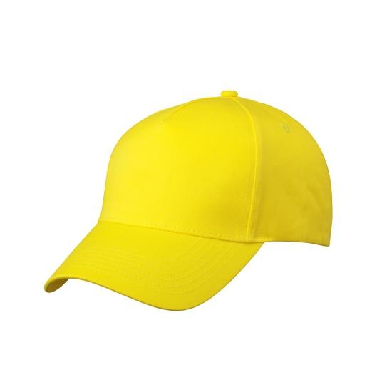 5 panel baseball cap geel dames en heren