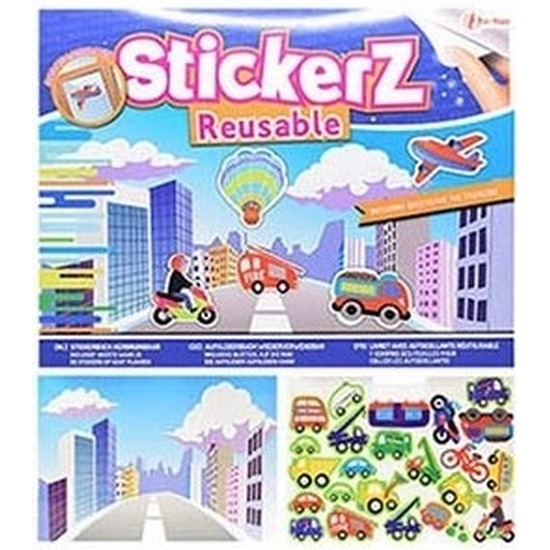 Auto stickers in verkeers thema