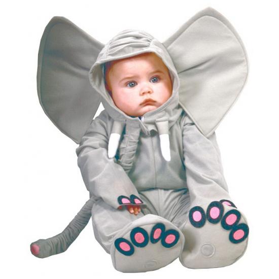 Baby verkleed kleding olifant