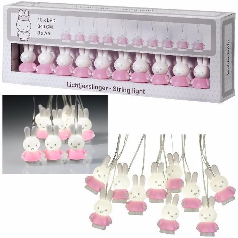 Babykamer roze Nijntje verlichting