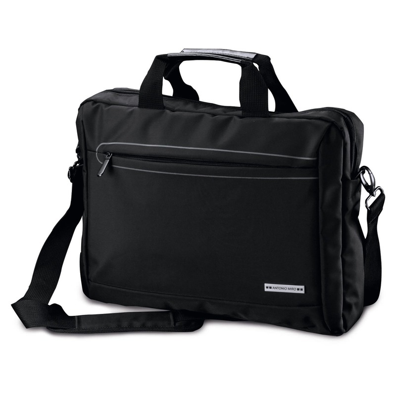Documenten aktetas-laptoptas zwart 10 liter