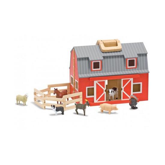 Grote houten speelgoed schuur boerderij