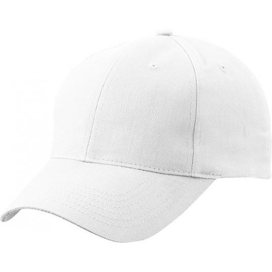 Katoenen baseball caps wit