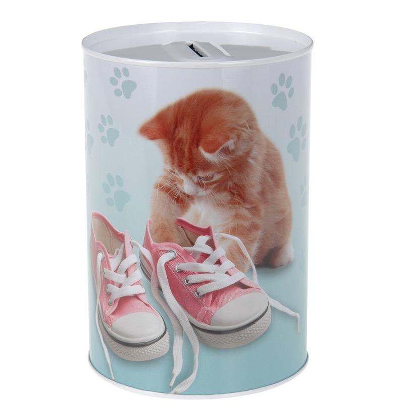 Katten-poezen spaarpot 15 cm