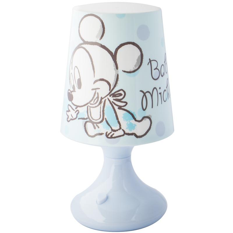 Kinderkamer-babykamer nachtlamp op batterijen Mickey Mouse en Donald Duck voor jongens-meisjes