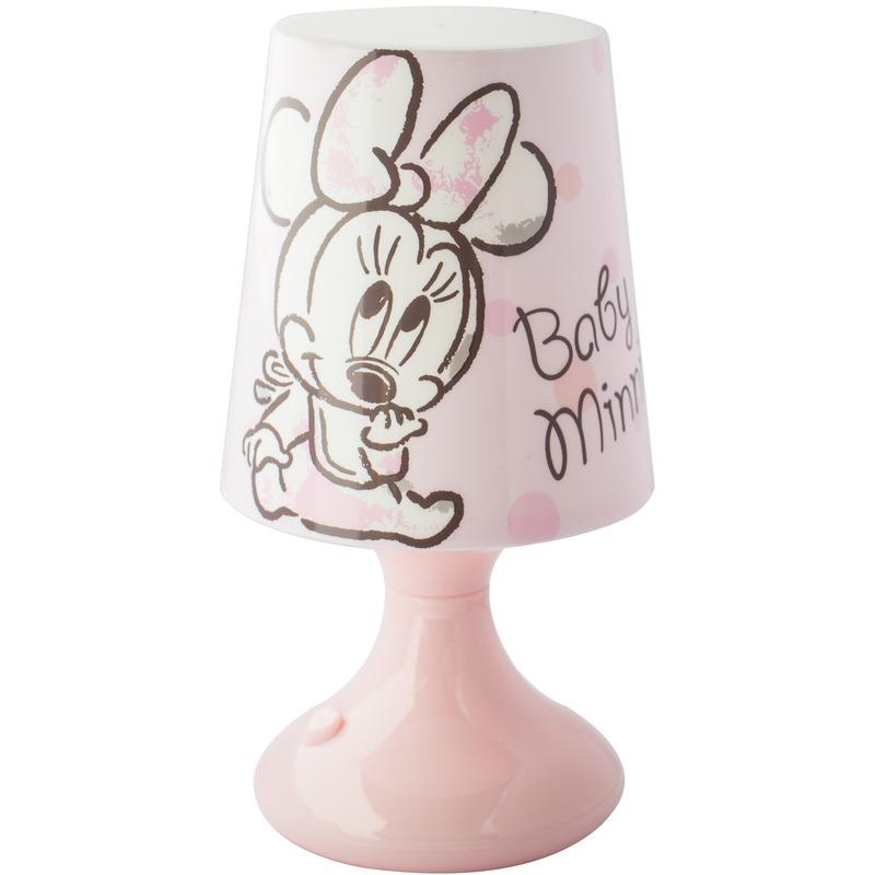 Kinderkamer-babykamer nachtlamp op batterijen Minnie Mouse en Katrien Duck voor jongens-meisjes