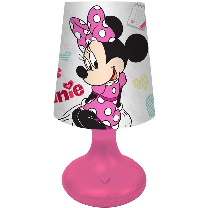 Kinderkamer-babykamer nachtlamp op batterijen Minnie Mouse voor meisjes