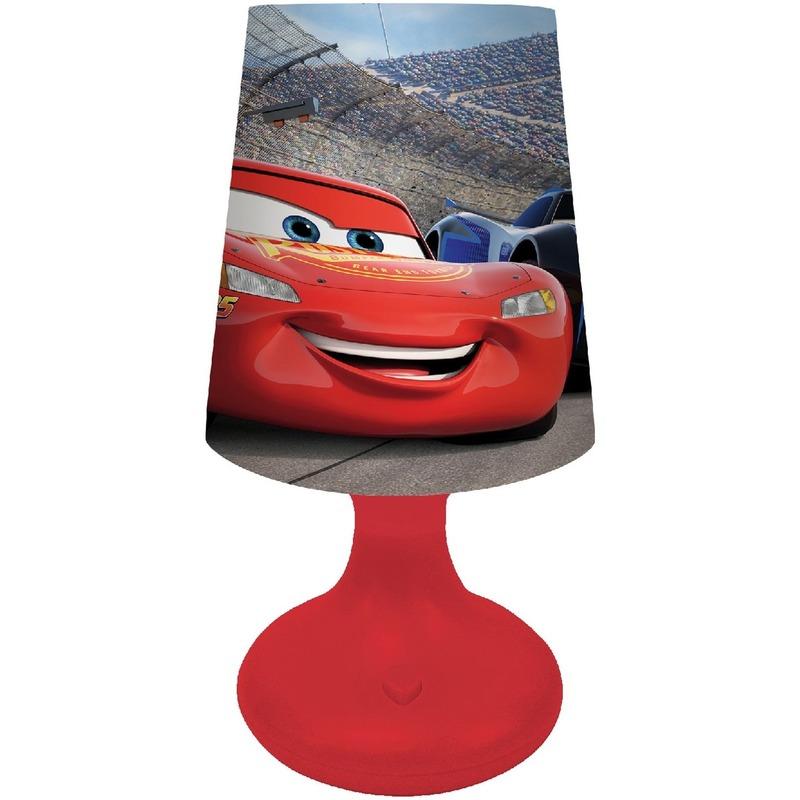 Kinderkamer nachtlamp op batterijen Cars Bliksem McQueen voor jongens