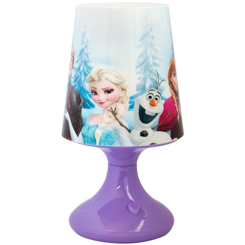 Kinderkamer nachtlamp op batterijen Frozen Anna-Elsa-Olaf voor meisjes