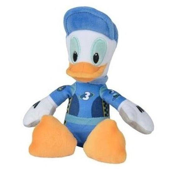 Pluche Donald Duck racing Disney knuffels 17 cm