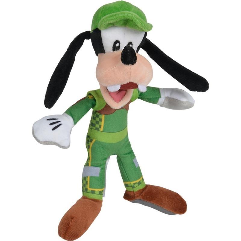 Pluche Goofy racing Disney knuffels 17 cm