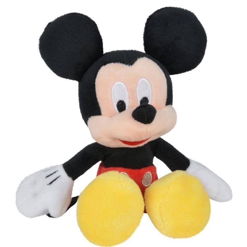 Pluche Mickey Mouse Disney knuffels 20 cm