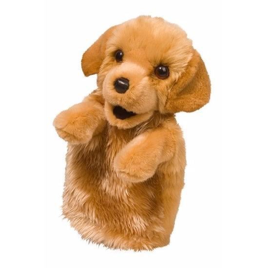 Poppenkast pop hondje 28 cm