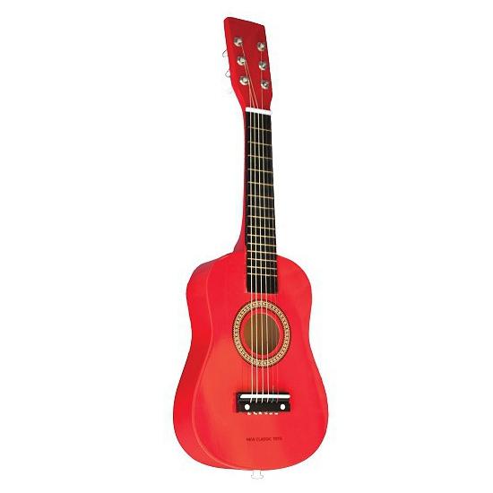 Rode speelgoed gitaar