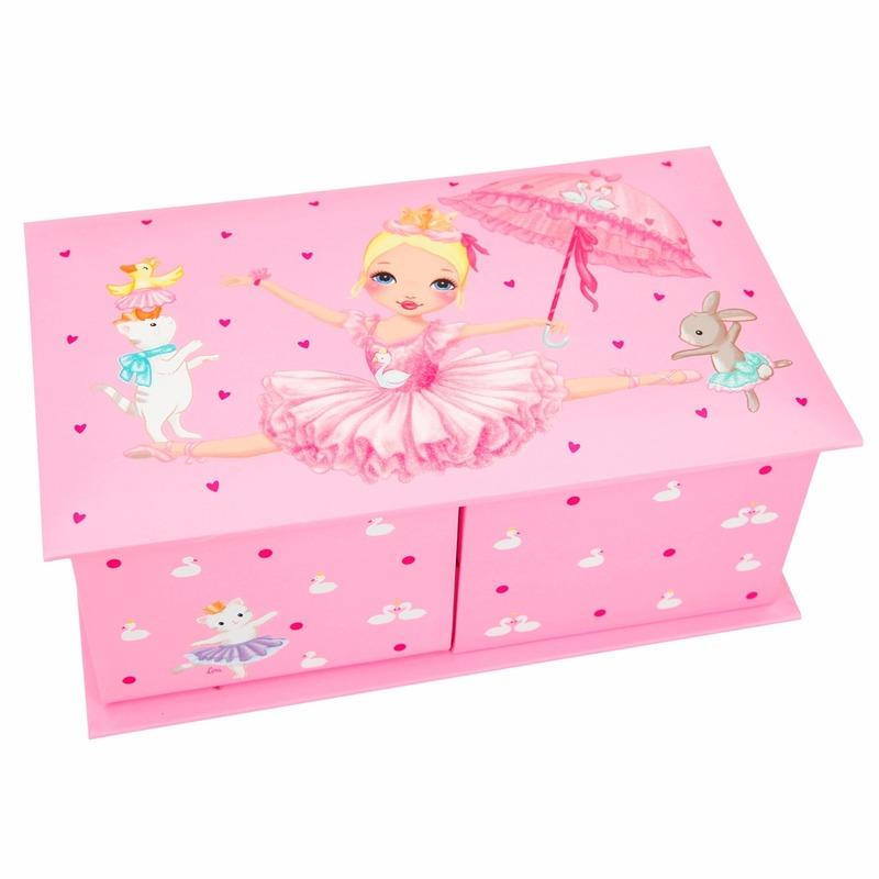 Roze sieradenkistje Prinses Mimi