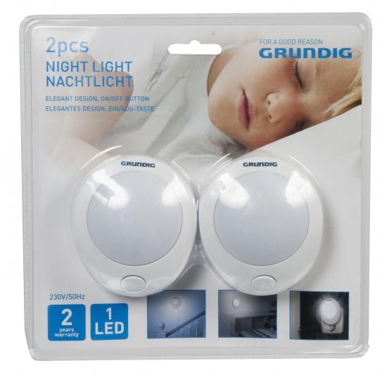 Set nachtlampen voor kids met knop