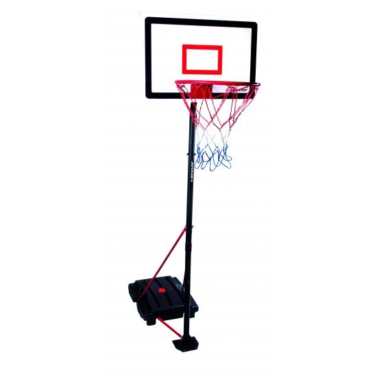 Verstelbaar basketbal bord op standaard 205 cm