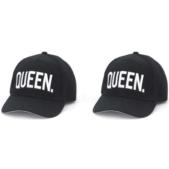 Zwarte snapback caps-petten QUEEN-QUEEN voor dames