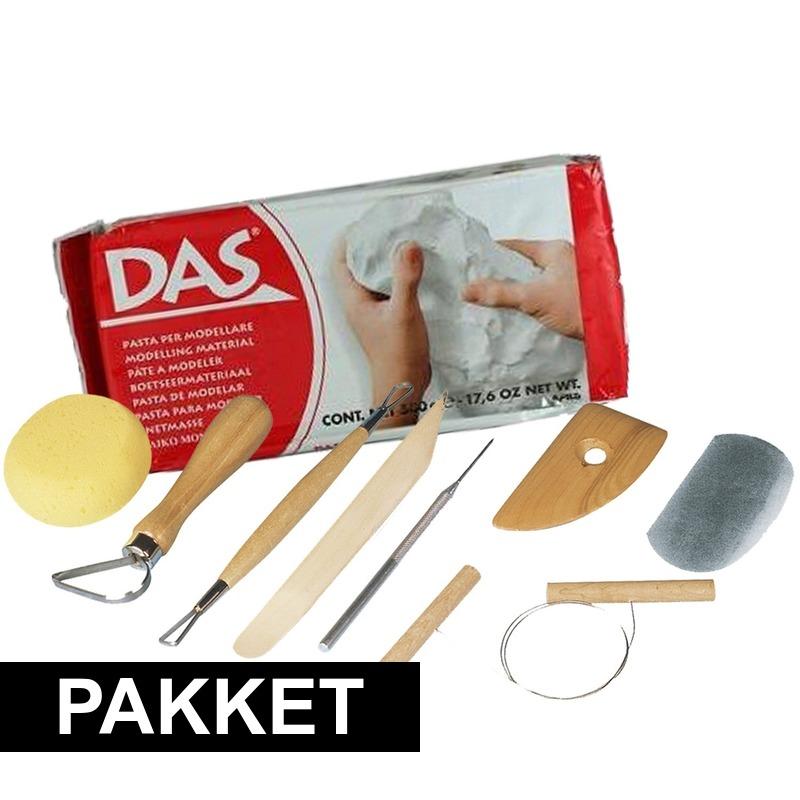 Basis pakket boetseren met witte klei