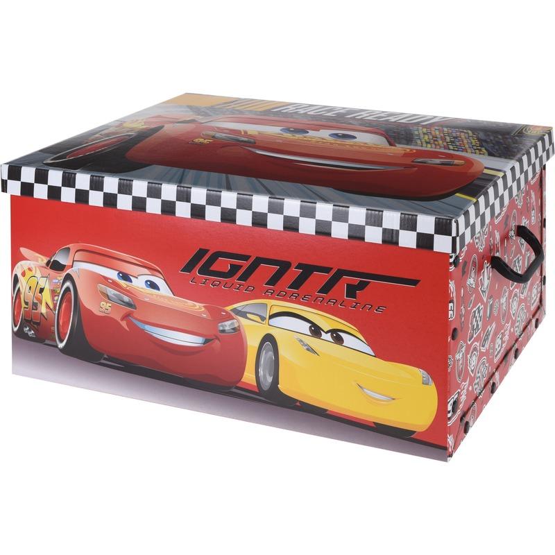 Opbergbox-opbergdoos Cars rood 49 x 39 x 24 cm