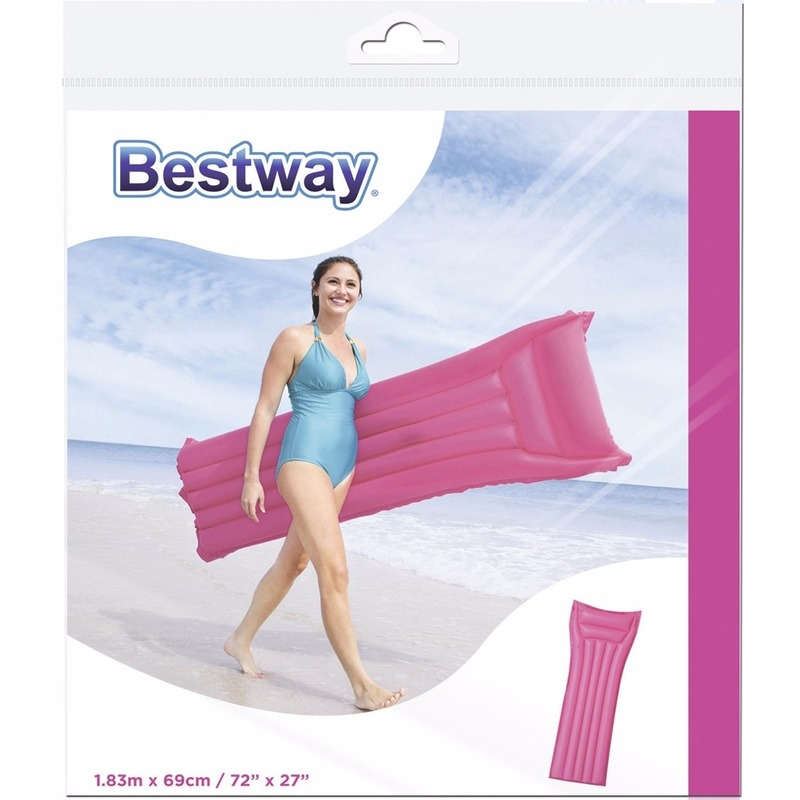 Roze bestway luchtbed 183 cm