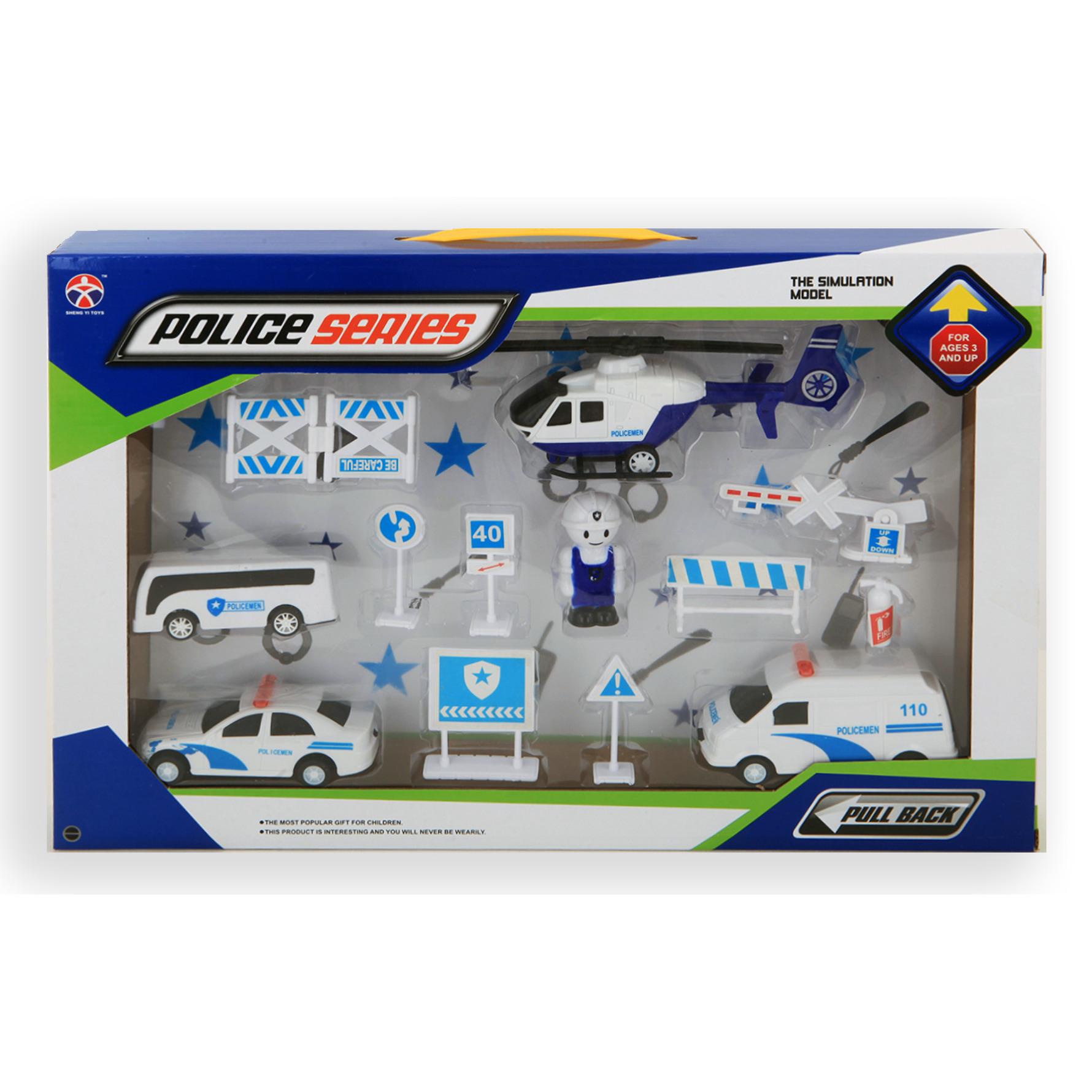Speelgoed set politie thema 13-delig voor kinderen