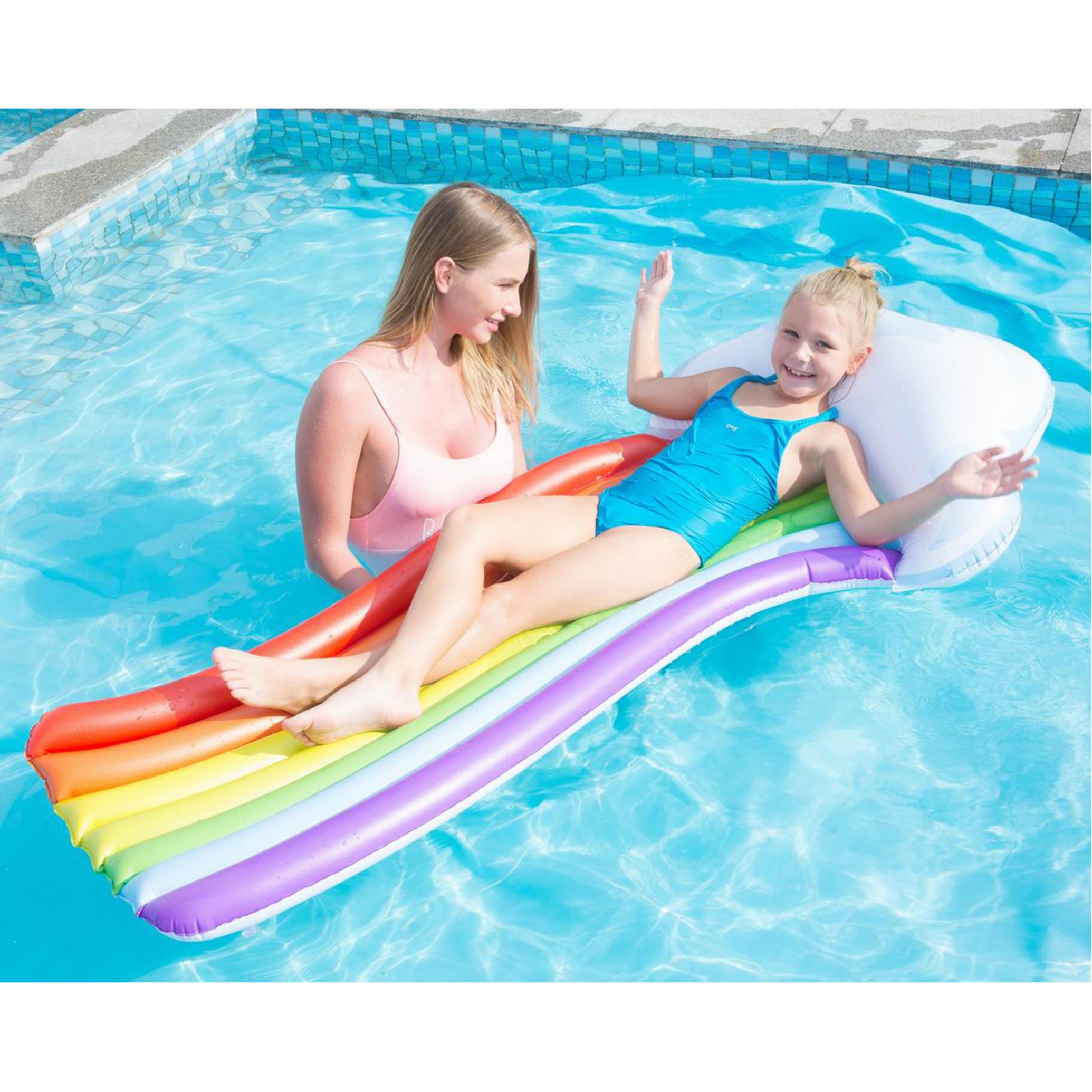 Waterspeelgoed regenbogen luchtbed 157 x 77 cm voor jongens-meisjes-kinderen